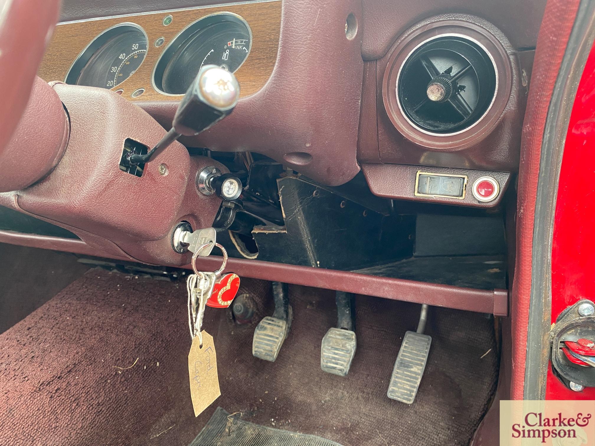 Ford Capri MK1 1300. Registration XBJ 188G. Date o - Image 52 of 65
