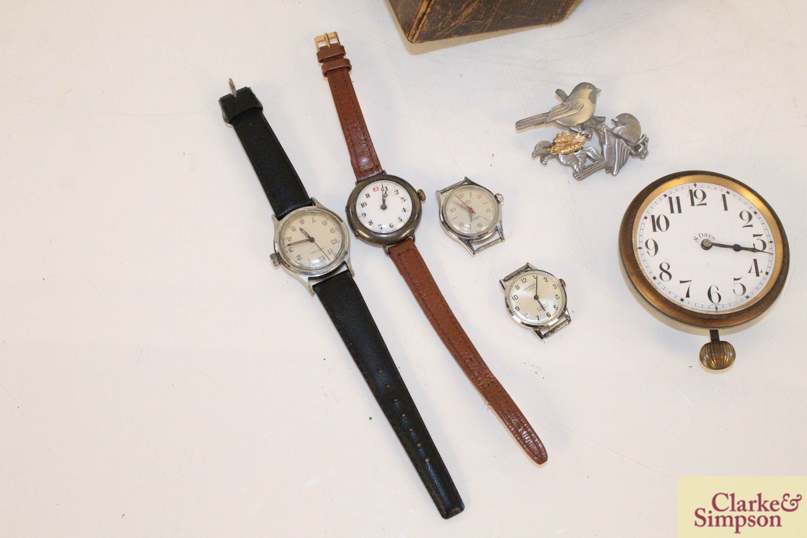Four various vintage ladies wrist watches, an eight day - Image 2 of 6