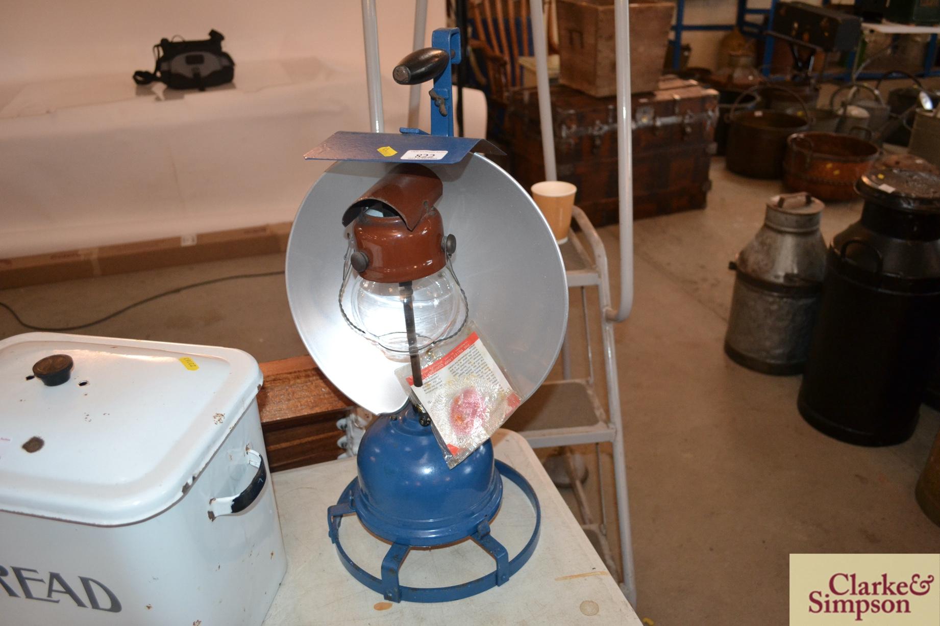 A Tilley AL8 railway track work lamp