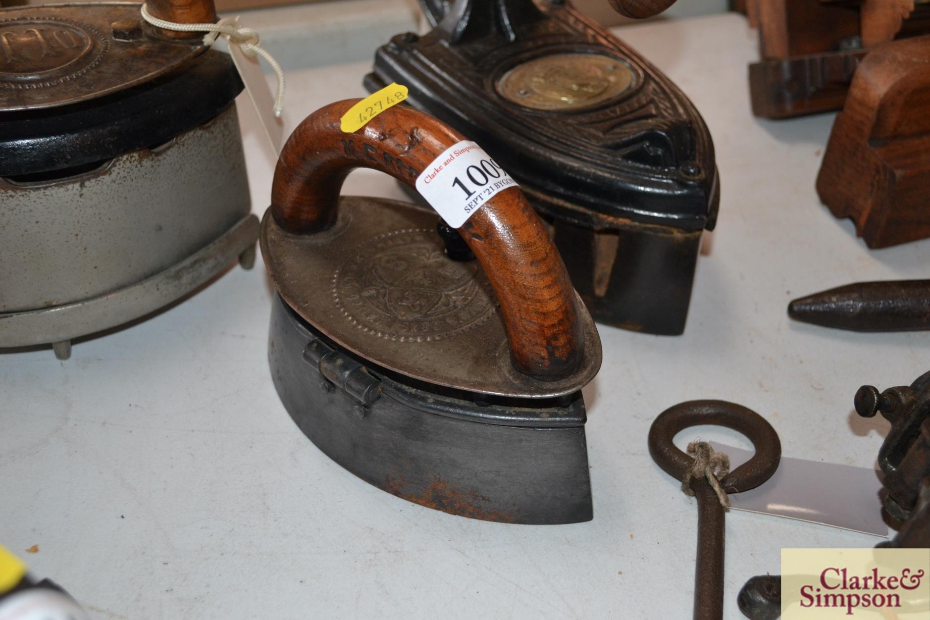 "A Kenrick & Sons ""Mrs Potts Patent"" clothes iron"