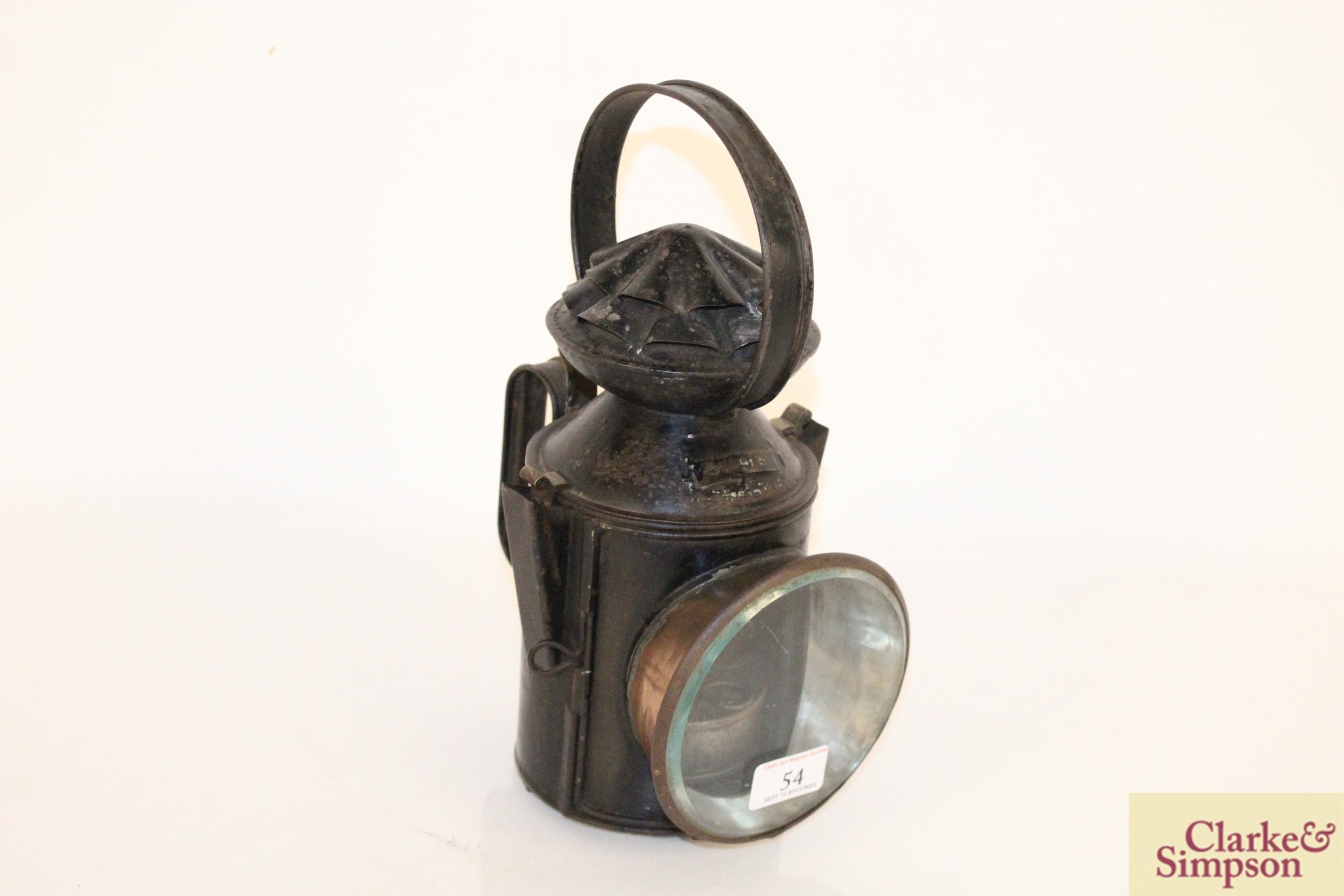 A railway lamp