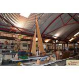 A vintage Albion Class A racing pond yacht, built
