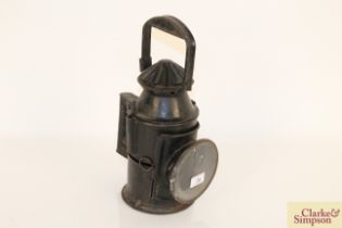 A vintage railway signal lamp