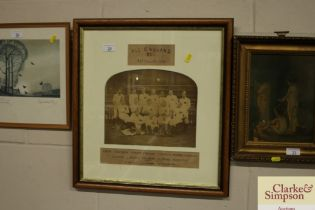 "A vintage photograph ""All England Fifteen XV, 24th"