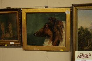 E. Marion Nelson 1890-1950 study of a dogs head en