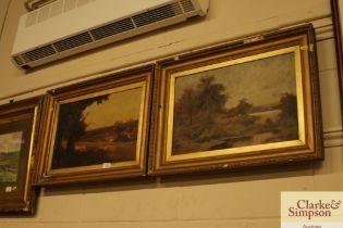 Late 19th Century English school pair of oils on c