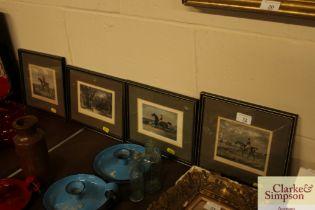 Four equestrian prints