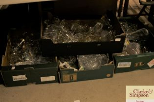 Four boxes of miscellaneous table glassware