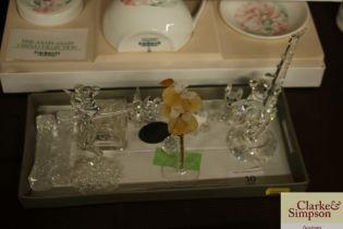 Various 'Swarovski' crystal items etc.