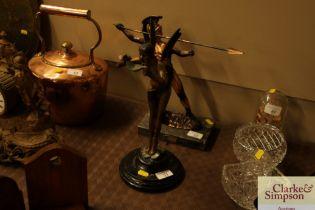Art deco style bronze figure of a fairy