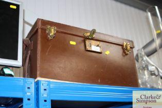 A large leather Mamiya camera case