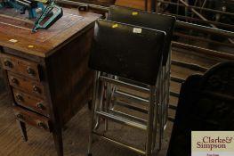 Two folding step stools