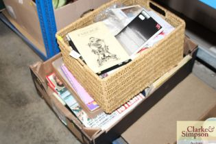Two boxes of various magazines etc