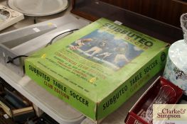A vintage 'Subbuteo Table Soccer' game