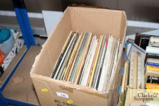 A box of LPs