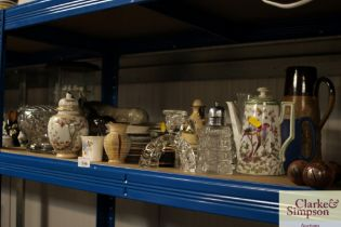 A quantity of various china and glassware to inclu