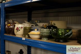 A quantity of mostly jugs; a salt glazed pot; jard
