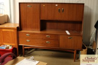 A teak G-plan sideboard fitted two long drawers