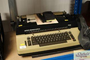 A Sperry Remington typewriter