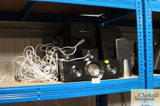 A Panasonic surround sound together with Trust spe