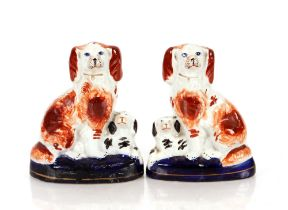 A pair of Staffordshire dogs,one AF