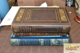 """A copy of """"Campbells Poetical Works"""" part leather bound; Keats """"Complete Poetical Works"""" and """"Mr M"""