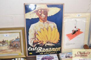 A ESST Bananen advertising sign