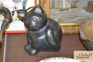 A Studio pottery cat