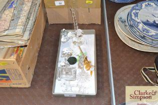 A box of various Swarovski crystal items etc.