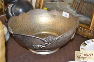 A silver plate bowl