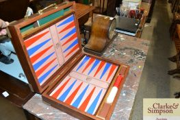 A brass bound Backgammon game, presented by Ford T