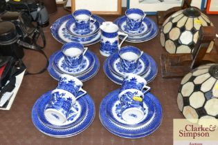 A quantity of Foley blue and white china