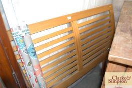 A double bed headboard