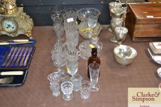 A quantity of various table glassware