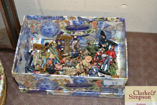 A small collection of Del Prado figures