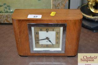An Art Deco Smiths mantel clock