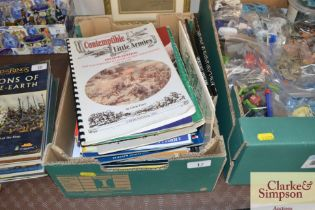 A box of War Games / toy soldier publications