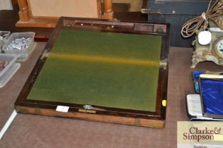 A 19th Century brass bound writing slope