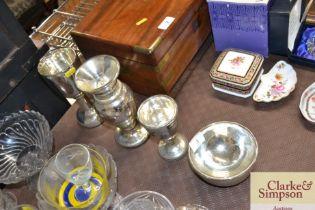 Four piece of Mercury glass