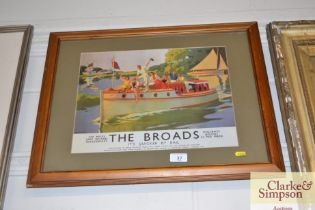 """A reproduction framed and glazed poster """"The Broad"""