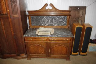 An Edwardian marble top washstand