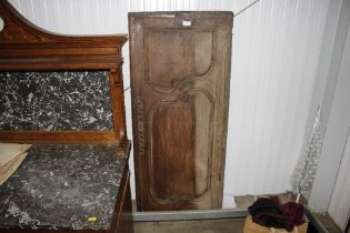 An antique French armoire door