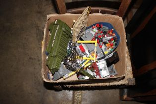 A box of various Lego
