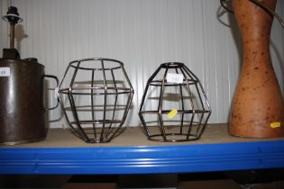 Two wire work light shades