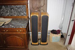 A pair of Monitor audio floor standing speakers