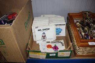 A box of Mr Men books