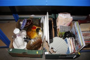 Two boxes containing various sundry items