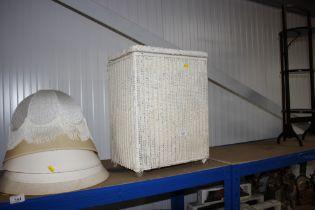 A Lloyd loom linen box