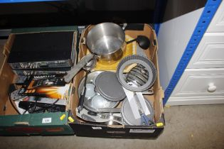 A box of kitchenalia