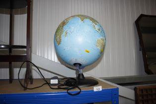 A World Globe lamp